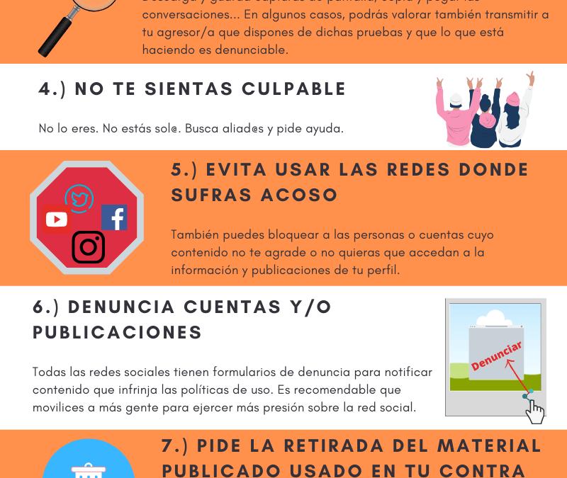 Infografía: Decálogo para una víctima de ciberacoso