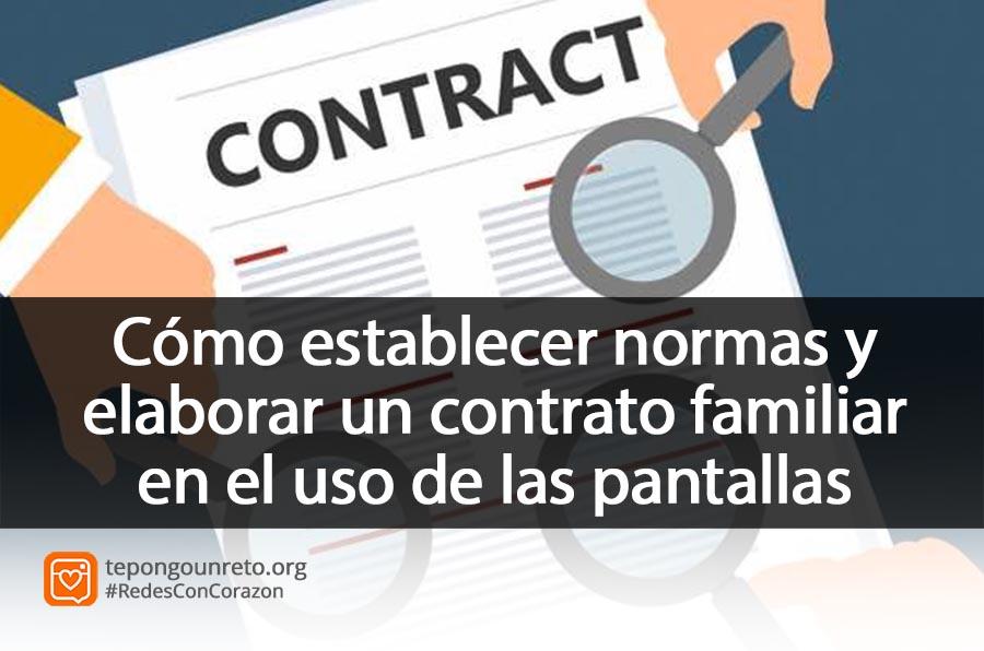 Cómo establecer normas y límites en la familia. El contrato familiar en el uso de las pantallas