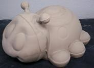 "gare 3114 lady bug /bank (BUG30)  9""L  bisqueware"