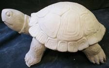 "gare 2624/2625 turtle w/removal shell (FR 12)  11""L  bisqueware"