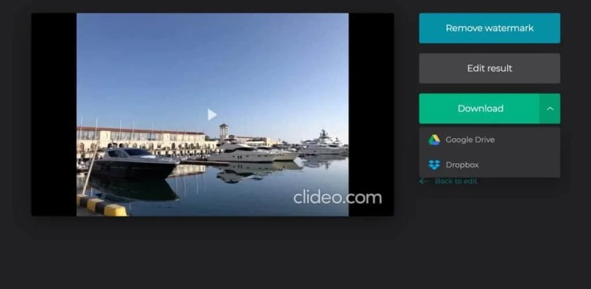 برنامج Clideoلقص مقاطع الفيديو