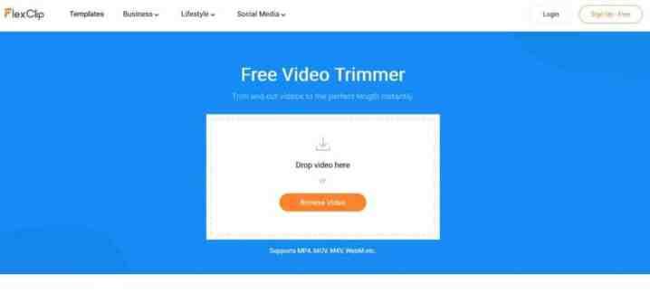 FlexClip لتحرير الفيديو أونلاين مجاناً
