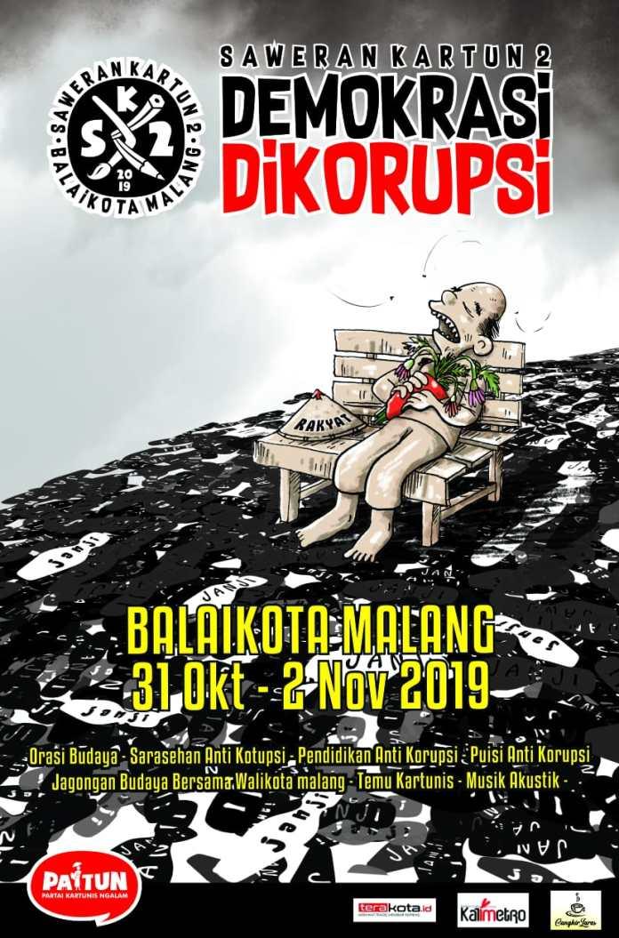 saweran-kartun-antikorupsi-demokrasi-dikorupsi