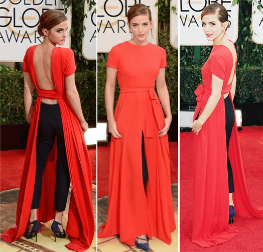 2014 Golden Globes Red Carpet Best Dressed Emma Watson