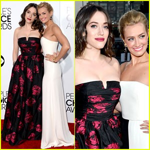 kat-dennings-beth-behrs-peoples-choice-awards-2014-red-carpet