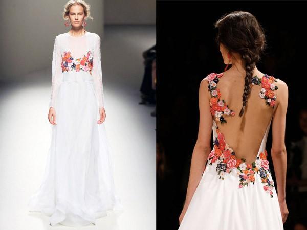 Alberta-Ferretti-floral-bridal-dress-for-wedding-2014