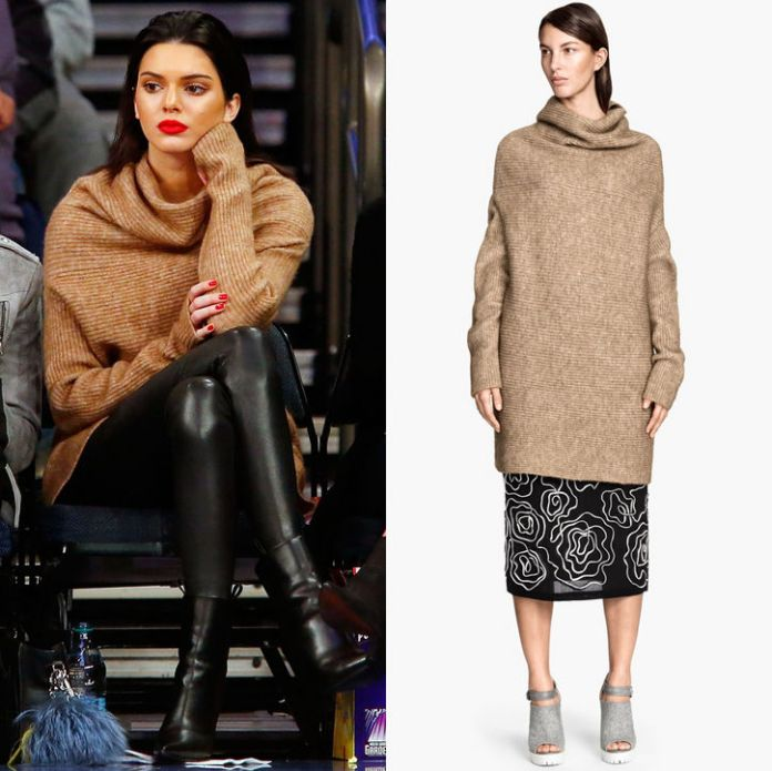 kendall-jenner-hm-brown-sweater-w724