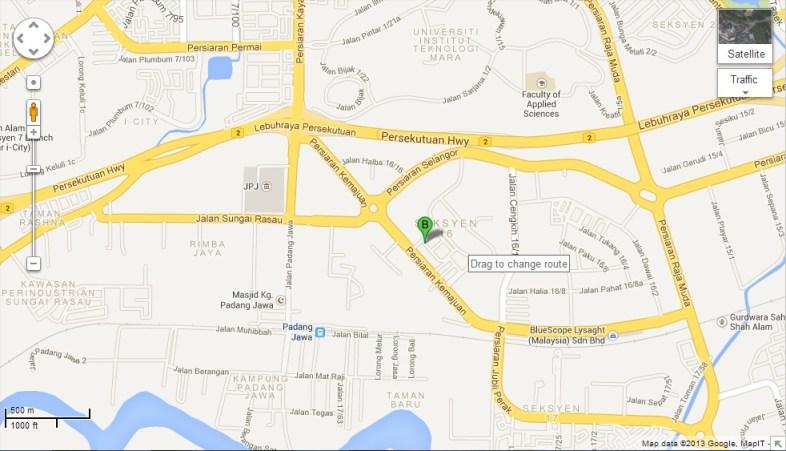 Terasaki Malaysia location map