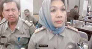 Kepala Dinas Peternakan Provinsi Lampung Dessy Romas saat memberikan keterangan kepada para wartawan terkait stok daging menjelang Ramadhan dan Idul Fitri 2015 di Lampung, di Begadang Resto Bandarlampung, Kamis (4/6).