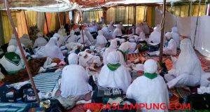 Jamaah haji jelang wukuf di Arafah