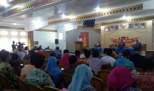 Suasana forum konsultasi publik penyusunan RKPD Lampung Utara tahun 2019