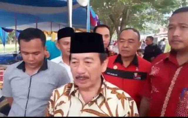 Herman HN pada acara kampanye di Padangcermin, Pesawaran,Senin (16/4/2018).