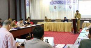 Focus Group Discussion (FGD) Penyusunan Indeks Demokrasi Indonesia Provinsi Lampung Tahun 2017 di Hotel Horison Bandar Lampung, pada Selasa pagi (5/6/2018).