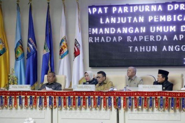 Sidang DPRD Lampung untuk membahas Raperda APBD Lampung 2019.