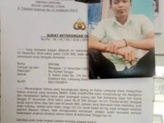 Bukti surat laporan dan foto Berry yang dikabarkan hilang
