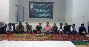Abi Hasan Mu'an di acara basic training (LK I) HMI Cabang Bandar Lampung Komisariat Hukum di gedung KNPI Provinsi Lampung