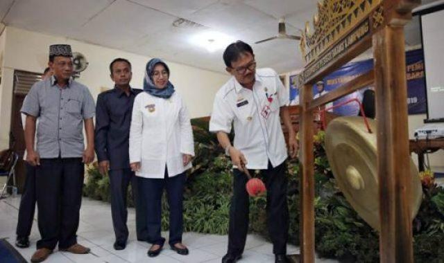 Pembukaan Musrenbang Kabupaten Pesisir Barat, Kamis, 14 Maret 2019.