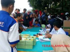 """Rail Clinic"" PT KAI Tanjungkarang di Kelurahan Sukamenanti, Bandarlampung, Kamis, 25 April 2019."