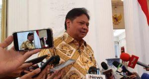 Ketua Umum Golkar Airlangga Hartarto bertemu dengan Presiden Joko Widodo di Istana Merdeka, Senin 21 Mei 2019. - Bisnis/ Amanda Kusumawardhani