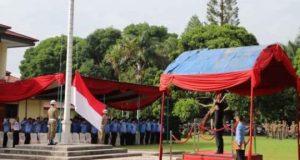 Upacara Peringatan Hari Pancasila di Kantor Pemkab Lampung Barat, Sabtu, 1 Juni 2019.