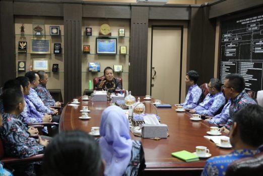 Gubernur Arinal saat menerima audiensi BPD HIPMI Lampung, di Ruang Kerja Gubernur, Kamis (4/7/2019).