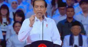 Presiden terpilih Joko Widodo menyampaikan pidato Visi Indonesia di Sentul, Bogor, Minggu (14/7/2019).(YOUTUBE KOMPAS TV)