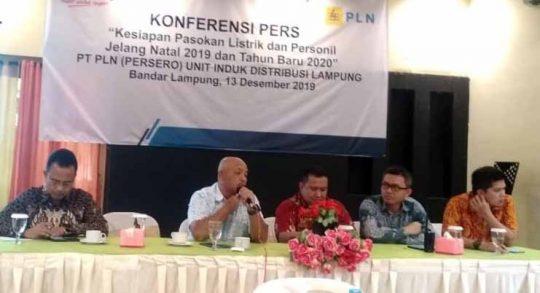 GM PLN Lampung, Pandapotan Manurung, menjelaskan soal kesiapan kelistrikan di Lampung menghadapi perayaan Natal dan Tahun Baru 2019.