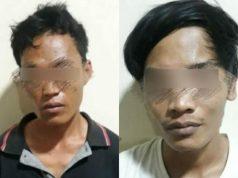 Dua tersangka pengedar narkotika jenis sabu-sabu yang ditangkap petugas Unit Reskrim Polsek Natar, Lampung Selatan (Foto; Ist)