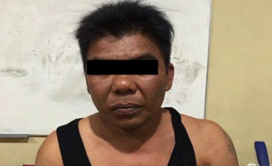 Ahmad Solehan alias Lehan (45), DPO bandar narkoba yang diamankan Satres Narkoba Polresta Bandarlampung. (Foto: Humas Polresta Bandarlampung)
