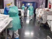 Unit gawat darurat rumah sakit Spanyol di Getafe, di luar Kota Madrid, pada 24 Maret 2020. Foto: Reuters