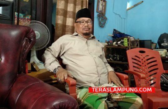 Slamet Riyadi, salah satu tokoh masyarakat RT 15B Kelurahan Way Lunik, Kecamatan Panjang, Kota Bandarlampung