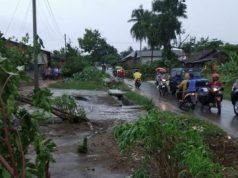 Bencana angin puting beliung yang terjadi di Kabupaten Tulang Bawang, Provinsi Lampung, Rabu (20/5) (BPBD Kabupaten Tulangbawang)