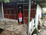 Kondisi rumah tinggal Rismawati di jalan H. Amita, Gang H. Saprudin, RT 05 Lingkungan II Kelurahan Tanjunggading, Kecamatan Kedamaian yang menjadi langganan banjir.