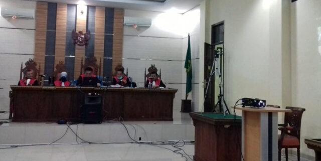 Majelis hakim Tipikor PN Tanjungkarang memvonis hukuman penjara 7 tahun bagi terdakwa Agung Ilmu Mangkunegara, Kamis (2/7/2020).