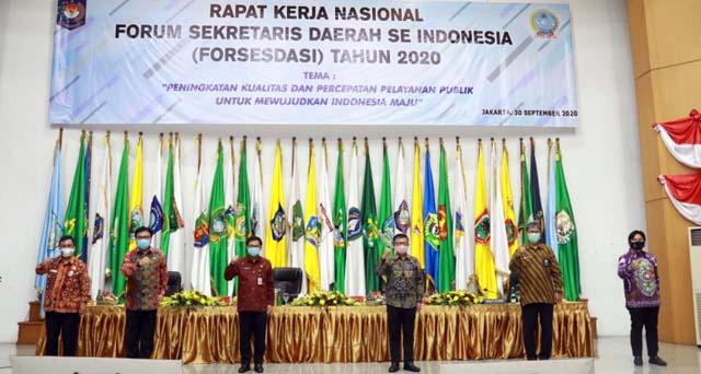 Forum Sekretaris Daerah se-Indonesia secara daring, Rabu (30/9/2020).
