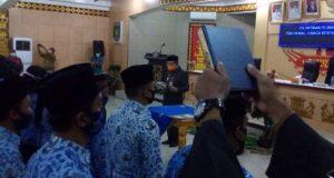 Sekda Kabupaten Lampung Utara, Lekok, mengambil sumpah pejabat fungsional di lingkungan Pemkab Lampung Utara,Selasa (15/12/2020).