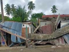 Rumah rusak yang terdampak akibat gempa M6,2 di Sulawesi Barat. (Istimewa)