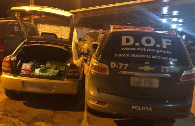 Operação Hórus: Veículo com mais de 200 quilos de maconha foi apreendido pelo DOF