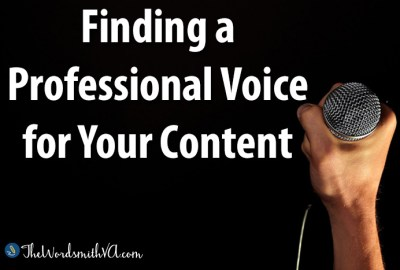 Finding a Professional Voice for Your Content