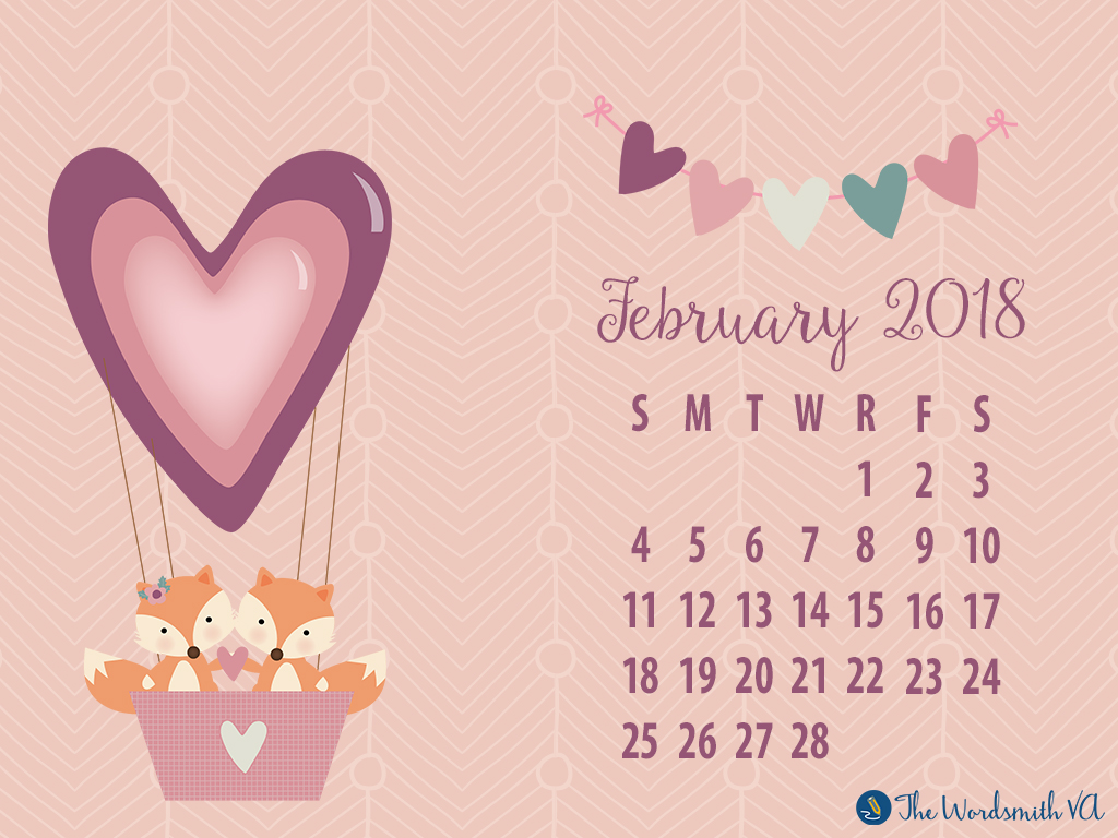 February 2018 Desktop Wallpaper The Wordsmith Va