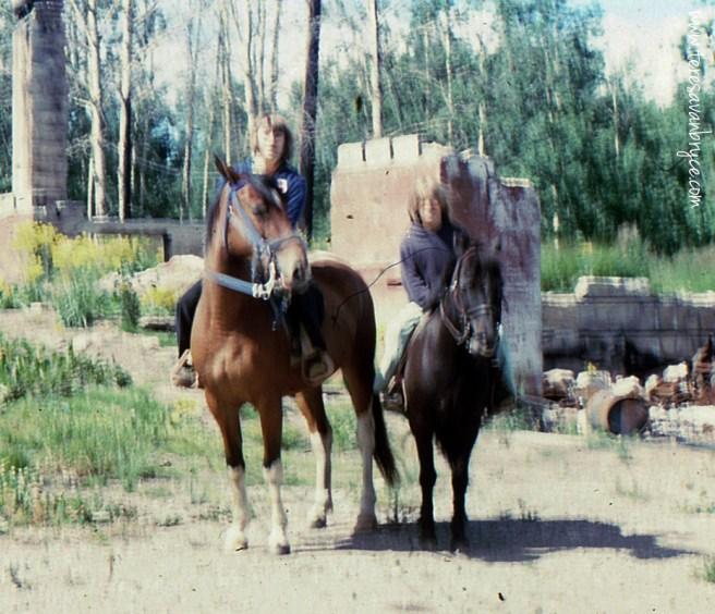 Gypsy and Midget at lodge