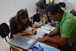 Secretário de Esportes, Luiz Otávio, recebe Ellen Tardeli, organizadora do Teresópolis By Day, para tratar a realização da segunda etapa do Circuito Desafio Corrida de Rua.