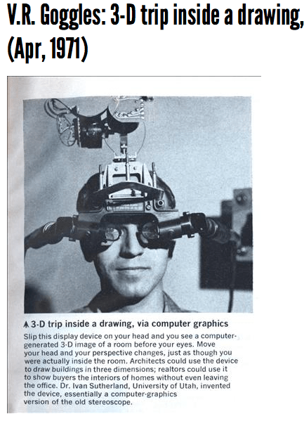 VR glasses University of Utah 1971