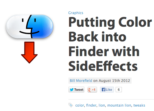 Put color back in Finder