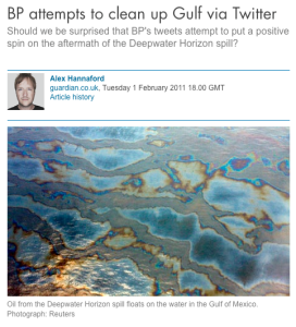 BP attempts to clean up Gulf via Twitter