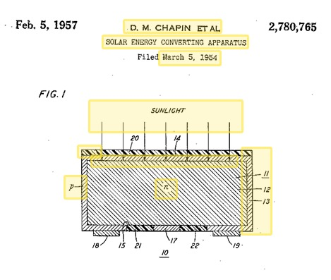 Solar Cell Patent from 1957