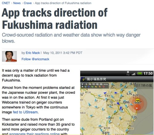 Radiation and weather app