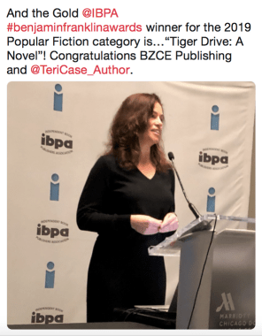 IBPA announces Gold Benjamin Franklin Award for Tiger Drive by Teri Case-Image