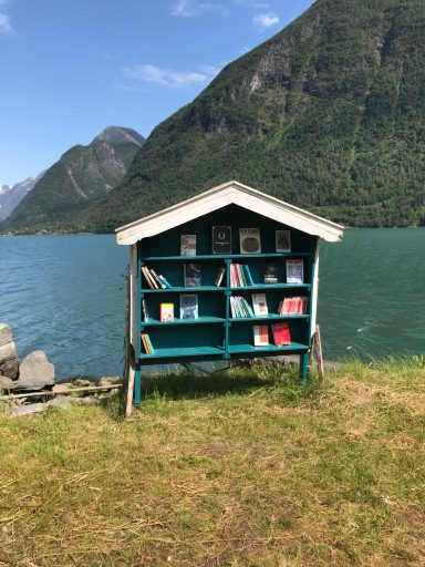 Little Free Library in Booktown, Norway