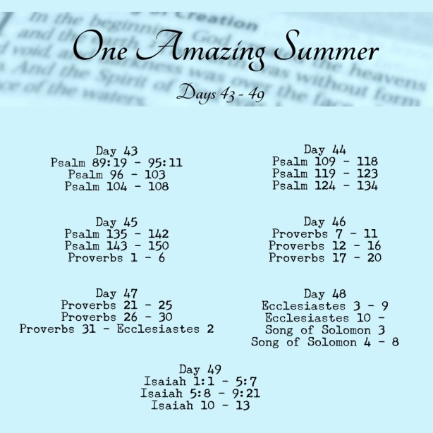 One Amazing Summer #B90Days Readings Week 7 www.terilynneunderwood.com